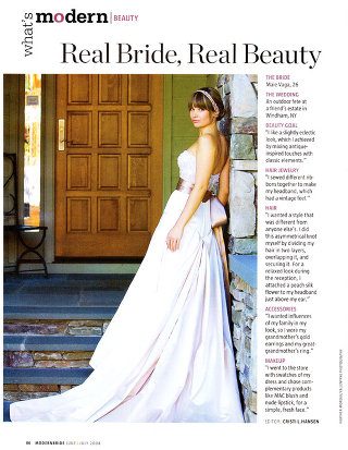 {modern bride magazine} real bride, real beauty