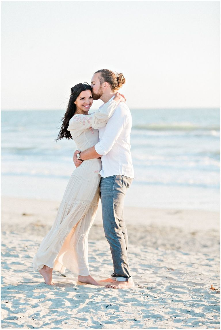 carlsbad beach engagement photography